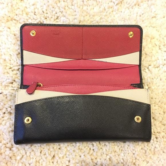 427d1e1335a437 Prada Bags   Continental Wallet Rare Pinkwhite Inside   Poshmark